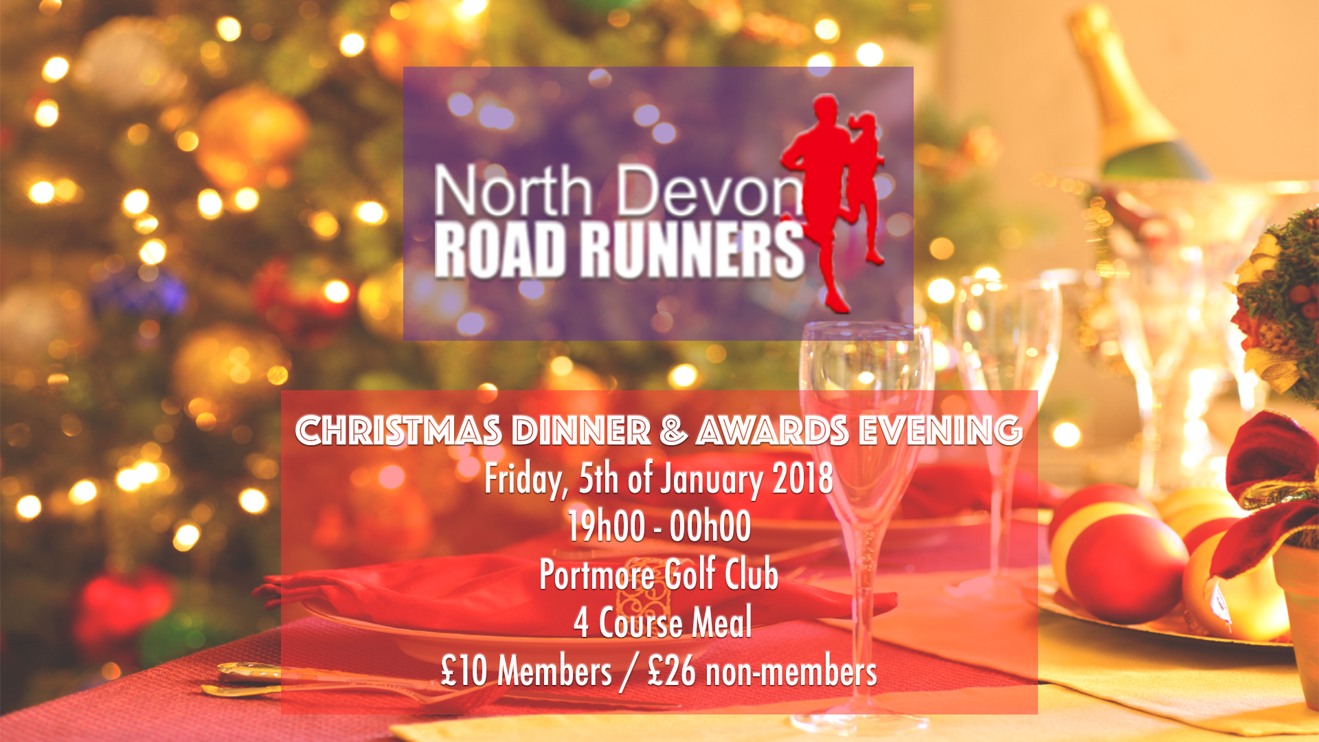 North Devon Road Runners :: Christmas Party & Awards Evening