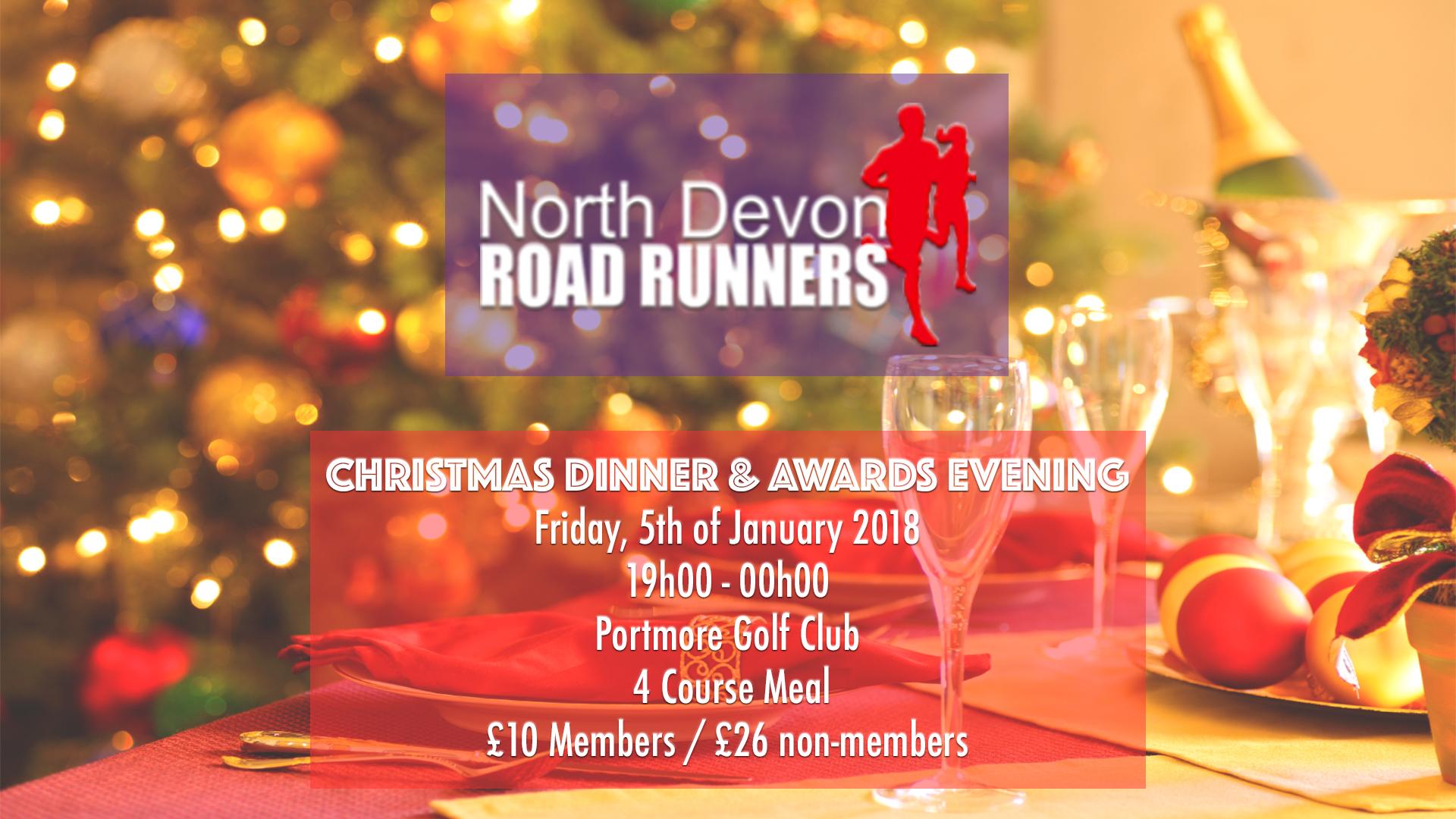 Christmas Evening Party.North Devon Road Runners Christmas Party Awards Evening